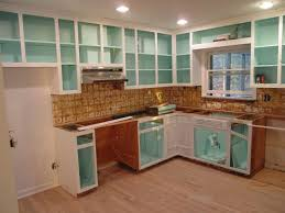 Paint Inside Of Cabinets, Fun Bright Color  Just For The Idea,, Its  Beautiful With Glass Doors And White Kitchen Gallery