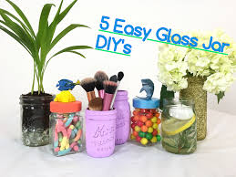 5 easy glass jar diys gift ideas finding dory candy jars makeup brush holder decorative you