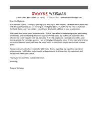 Best Stylist Cover Letter Examples Livecareer
