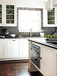 white kitchen grey backsplash contrasting kitchen white cabinets and dark grey