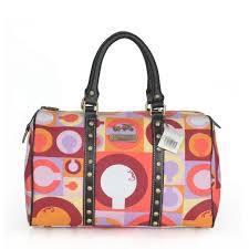 Discount Coach Poppy Stud Medium Multicolor Luggage Bags Asy Outlet nNdkx