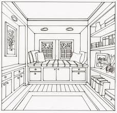 bedroom drawing one point perspective. Fine Perspective This Onepoint Perspective Window Seat Image Was One Of The Drawing  Activities Description From Sippdrawingcom I Searched For This On Bingcomimages Intended Bedroom Drawing One Point Perspective I