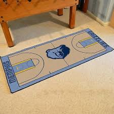 memphis grizzlies 29 5 x 54 large basketball court runner area rug mat