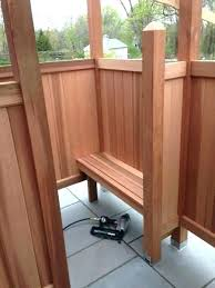 outdoor shower platform outdoor shower platform how to build an stall your own enclosure