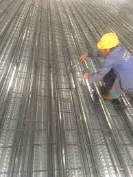 hot steel galvanized corrugated metal joists floor decking sheet for concrete