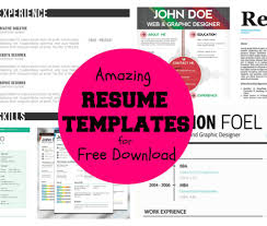 Trendy Resumes Free Download Styles Free Pretty Resume Templates Download Clean Cv Resume 38