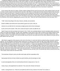 young goodman brown essay introduction  goodman brown essays and papers 123helpme com