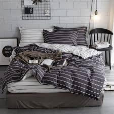 soft s 4 bedding sets geometric stripes pattern bed linings duvet cover bed sheet pillowcases cover set decoration bedspread yellow comforter sets gray