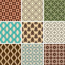 Vintage Wallpaper Patterns Cool Set Of Seamless Pattern Retro Wallpaper With Simple Ornament
