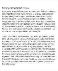 Scholarship Essays Examples Scholarship Application College