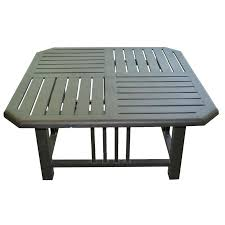 patio side table brown metal patio coffee side table with slat style top patio side table ideas