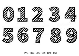 Or click this link to download svg. 0 Stripe Numbers Clipart Designs Graphics
