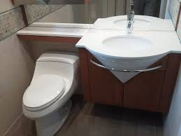 stylish low profile vanity light low profile toilet powder room contemporary with cantilevered