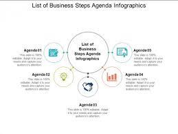 Agenda List List Of Business Steps Agenda Infographics Ppt Powerpoint