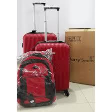 "Barry Smith Luggage 24"" 20"" + laptop backpack   Shopee Malaysia"