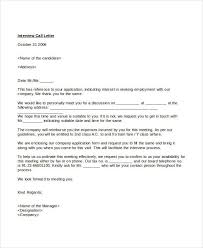 Letter To Interview Interview Letter Templates 7 Free Word Pdf Documents