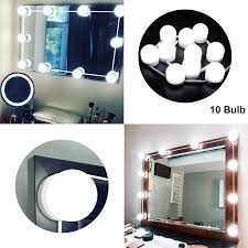 get ations led vanity mirror lights kit with dimmable light bulbs led mirror lighting fixture strip for