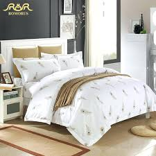 luxury white hotel duvet cover set quality king queen size bed linen 100luxury collection baroque jacquard