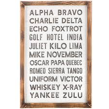 Though often called phonetic alphabets, spelling alphabets. Aviation Alphabet Wood Wall Decor Hobby Lobby 1629575