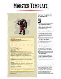 Monster Template For Numbers (Mac Os, Ios) - Dungeon Masters Guild ...