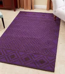 rowe purple new zealand wool rug 3 x 5