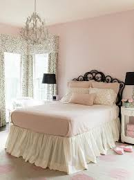 pink and black girls bedroom