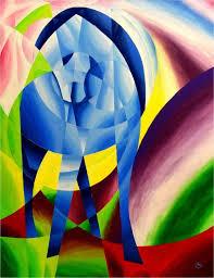 saatchi art artist andreas kelm painting blue horse i after franz marc