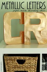 Paper Mache Decorating Decorating Paper Mache Letters For The Home