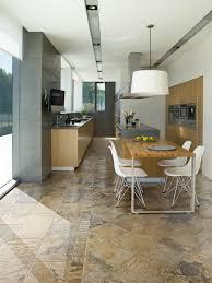 Kitchen floor tiles Rectangle 1 Natural Tones Homedit 18 Beautiful Examples Of Kitchen Floor Tile