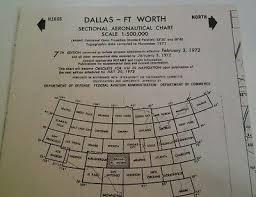 Dallas Fort Worth Sectional Chart Dallas Aeronautical Chart January 1961 Flightplan Airplane