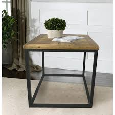 industrial reclaimed furniture. Industrial Reclaimed Wood Square End Table Furniture .