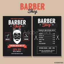 Barber Shop Flyer Template Price List And Special Offer