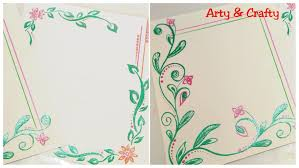 Assignment Front Page Border Designs Diy Border Design For School Projects How To Decorate Front