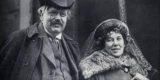 Chesterton y su esposa