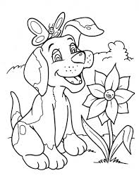 Small Picture Dog coloring pages with flower and butterfly ColoringStar