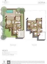 Sidra Villa 5: Ground Level and First Level
