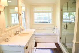 it is not that large of a bathroom so the large beautiful windows really make it feel luxurious and bright