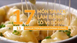 17 món ăn nhanh làm bằng lò vi sóng:BÁNH NƯỚNG BACON VÀ PHÔ MAI | Trung Tâm  Thương Mại SST - Đại Lý Chính Hãng