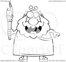 Cartoon Clipart Of A Black And White Happy Senior Greek Man ...