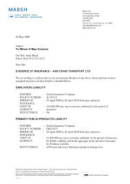 Certificate Of Liability Insurance Request Letter Samples