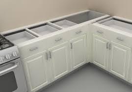 image of white corner kitchen cabinet