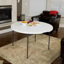 lifetime 48 inch round fold in half table light commercial