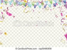 Balloon Banner Template Abstract Colorful Celebration Background With Confetti