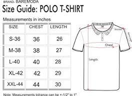 Amazon Shirt Size Chart India Baremoda Mens Polo T Shirt Black Blue Grey Combo Pack Of 3