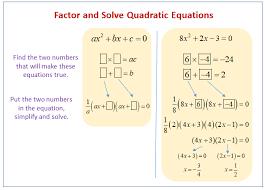 factoring solving quadratic equations