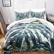 details about green palm tree duvet cover set tropical leaf bedding dark green bedding sets