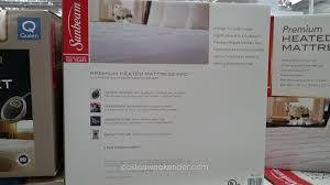 heated mattress pad costco. Interesting Heated Sunbeam Premium Heated Mattress Pad For A Comfortable Sleep For Costco
