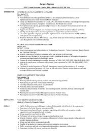 Data Management Resume Sample Data Management Manager Resume Samples Velvet Jobs