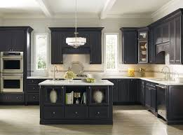 black kitchen cabinets with white marble countertops. Modern Dark Gray Kitchen Cabinets White Marble Countertop Double Wall Ovens Island With Open Shelves Stainless Steel Sink Single Pendant Lighting Black Countertops O