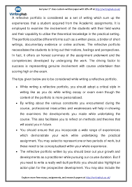 blog reflective portfolio